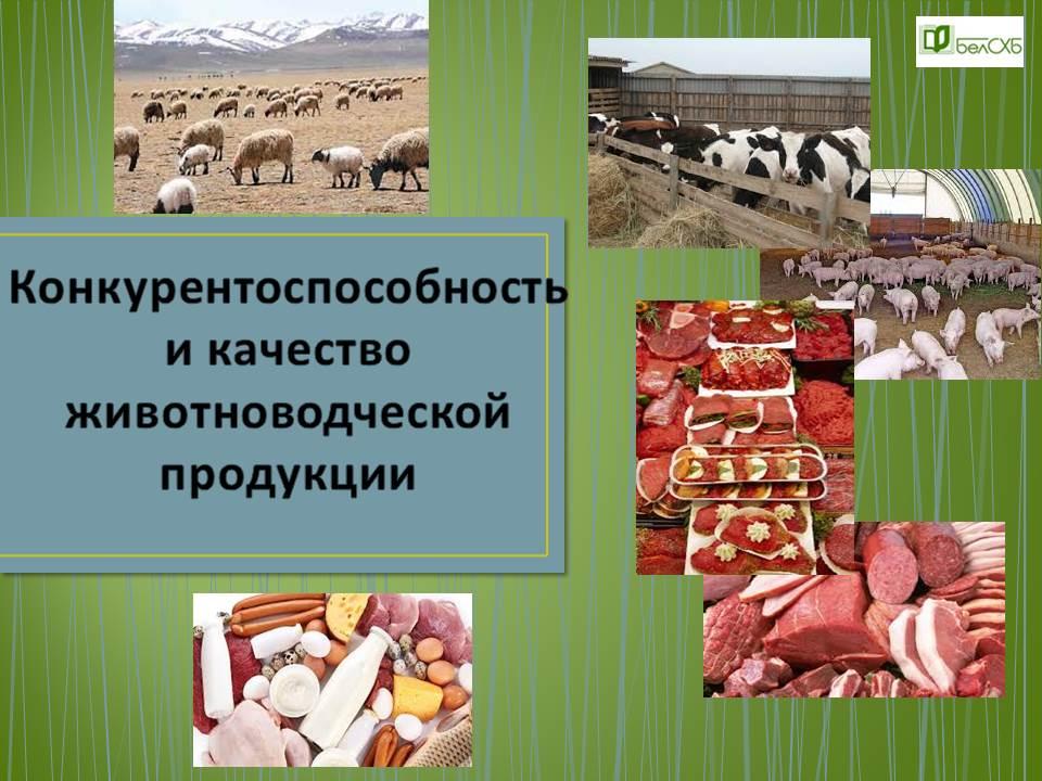Конкурентоспособность и качество животноводческой продукции